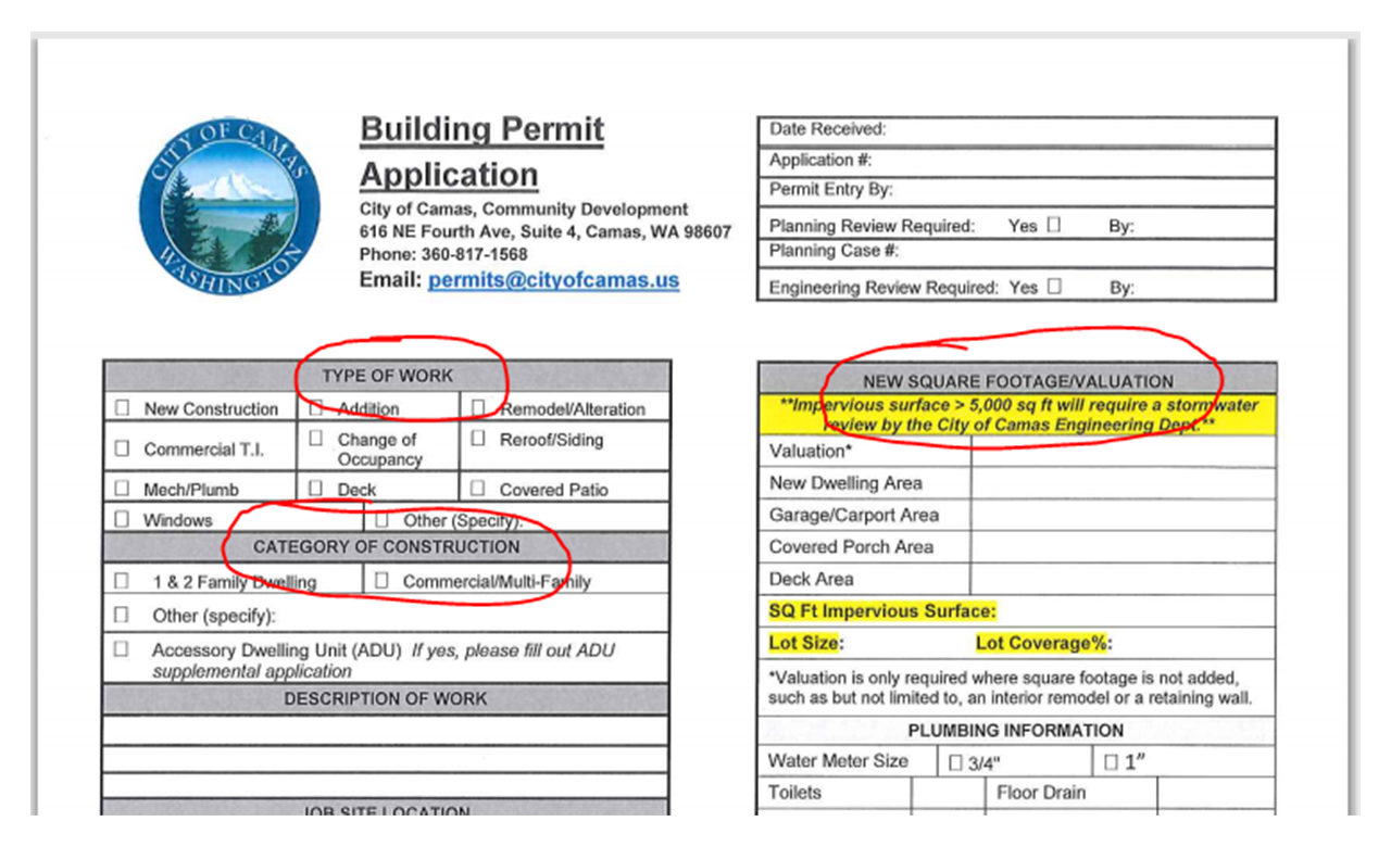 permit application
