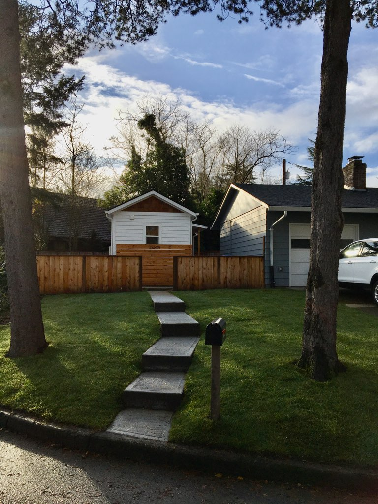exterior of tiny home in tigard